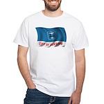 Wavy Burbank Flag White T-Shirt