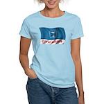 Wavy Burbank Flag Women's Light T-Shirt