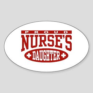 Proud Nurse's Daughter Oval Sticker