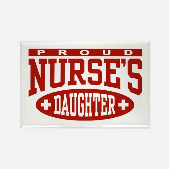 Proud Nurse's Daughter Rectangle Magnet
