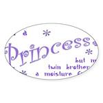 I'm a Princess Oval Sticker (10 pk)