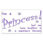 I'm a Princess Rectangle Sticker