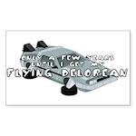 Flying Car Rectangle Sticker 50 pk)