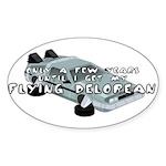 Flying Car Oval Sticker (10 pk)