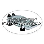 Flying Car Oval Sticker