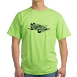 Flying Car Green T-Shirt