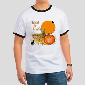 Halloween Greyhound Ringer T