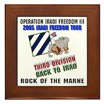 Rocky Back to Iraq 2005 Framed Tile