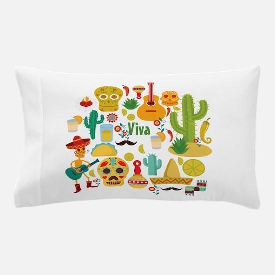 viva mexico Pillow Case