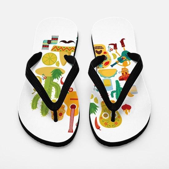 viva mexico Flip Flops