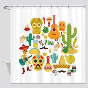 viva mexico Shower Curtain