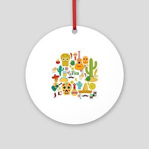 viva mexico Round Ornament