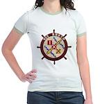 USS BRUSH Jr. Ringer T-Shirt