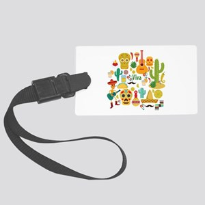 viva mexico Large Luggage Tag