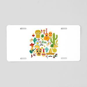 viva mexico Aluminum License Plate