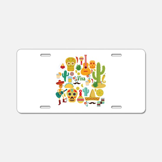viva mexico Aluminum License Plate