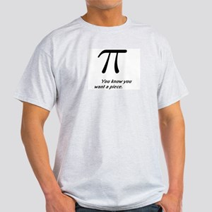 A piece of  Pi -Ash Grey T-Shirt