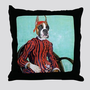 Boxer VAN GOGH Throw Pillow