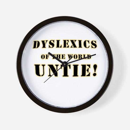 Dyslexics Untie Joke Wall Clock