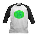 Still Nursing - Green Kids Baseball Jersey