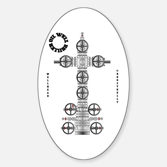 Oil Well Driller Oval Decal