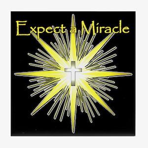 Christian Miracle Tile Coaster