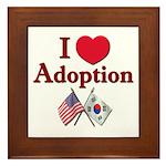 I Love Adoption (Korea/USA) Framed Tile