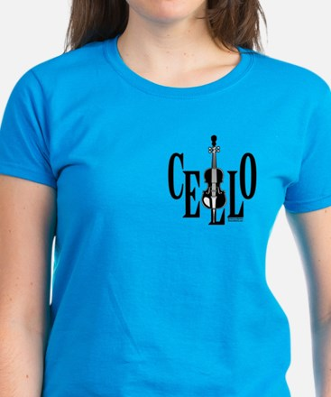 Cello In Cello Women's Dark T-Shirt