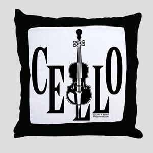 Cello In Cello Throw Pillow