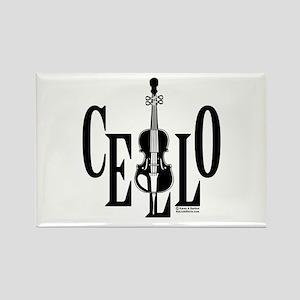 Cello In Cello Rectangle Magnet