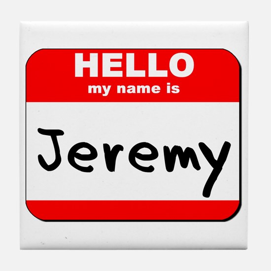 Hello my name is Jeremy Tile Coaster