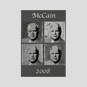 Black & white McCain Rectangle Magnet