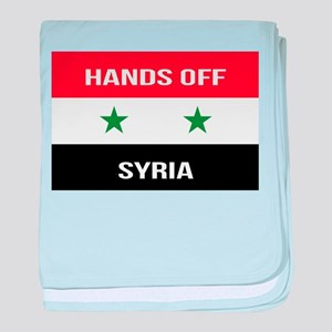 Syrian Flag - Hands Off Syria baby blanket
