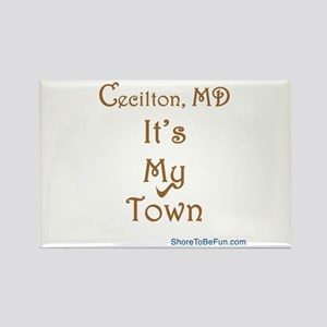 Cecilton MD It's My Town Rectangle Magnet
