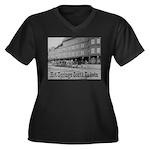 Hot Springs Women's Plus Size V-Neck Dark T-Shirt