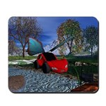 Flying Car Mousepad