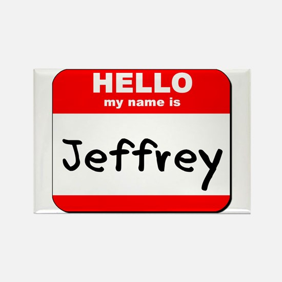 Hello my name is Jeffrey Rectangle Magnet