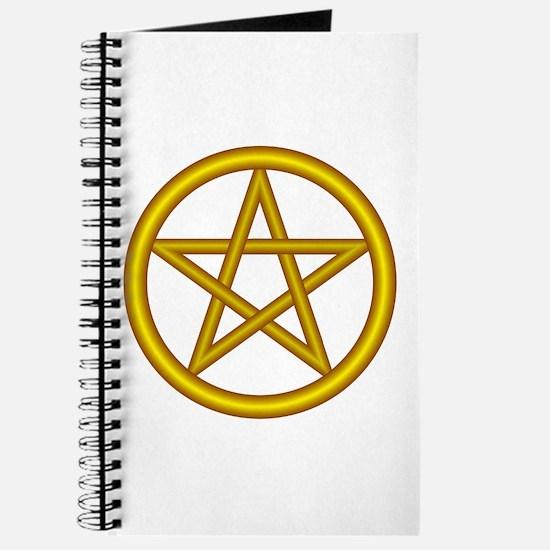 Unicorn Gold Pentagram Journal