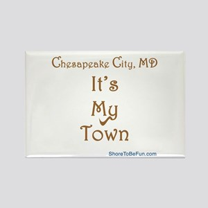 Chesapeake City It's My Town Rectangle Magnet