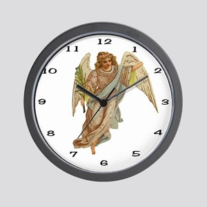 004 Illustration Angel Clock Wall Clock