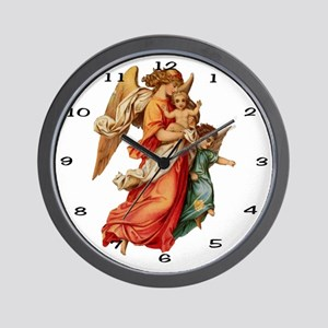 007 Illustration Angel Clock Wall Clock