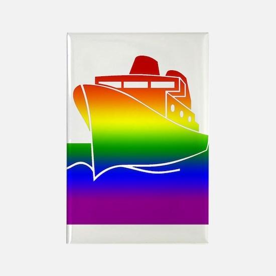 Rainbow Gay Pride Cruise Ship Rectangle Magnet