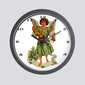 011 Illustration Angel Clock Wall Clock