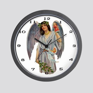 009 Illustration Angel Clock Wall Clock