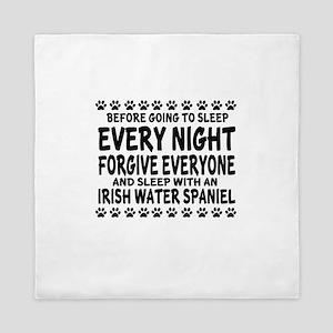 Sleep With Irish Water spaniel Dog Queen Duvet