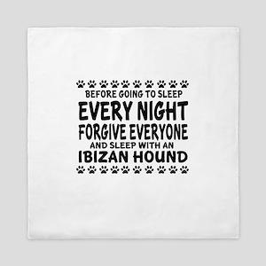 Sleep With Ibizan Hound Dog Queen Duvet
