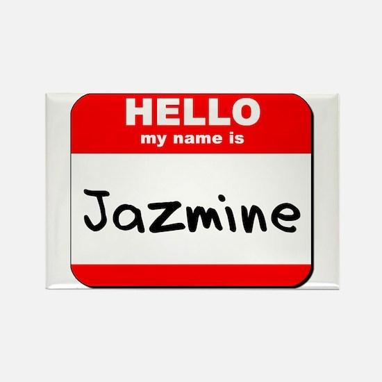 Hello my name is Jazmine Rectangle Magnet