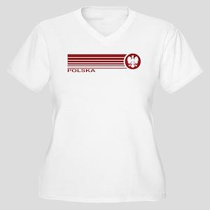 Polska Women's Plus Size V-Neck T-Shirt