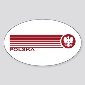 Polska Oval Sticker