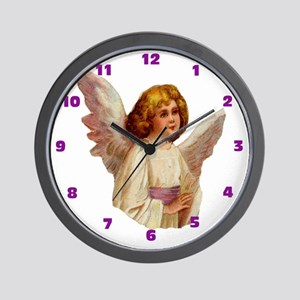 006 Illustration Angel Clock Wall Clock